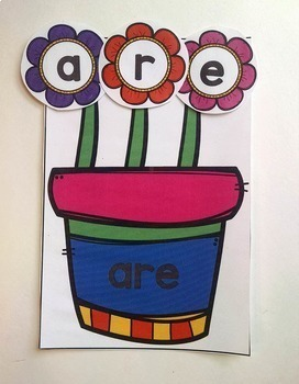 Growing Sight Words:  A Sight Word Building Activity