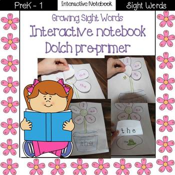 Growing Sight Words Interactive Notebook {Dolch Pre-primer}