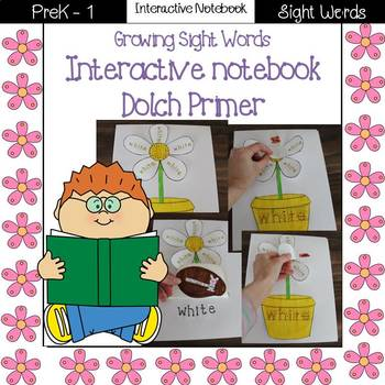 Growing Sight Words Interactive Notebook {Dolch Primer}