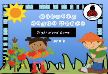 Growing Sight Words - Sight Word Game - Literacy Centers - Interactive