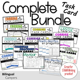 Complete Spanish Task Card Bundle: Grammar and Writing