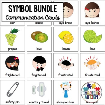 Growing Symbol Cards Bundle, Autism and Special Needs