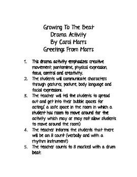 Drama Game-Growing To The Beat