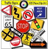 Traffic Signs Clip Art Growing Bundle