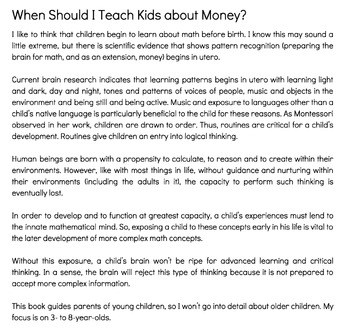 Growing Up Centsible: a No Nonsense Guide to Teaching Kids about Money