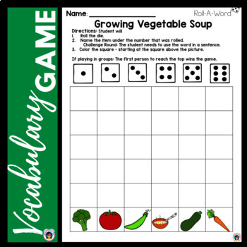Growing Vegetable Soup -  Sentence Cut Ups