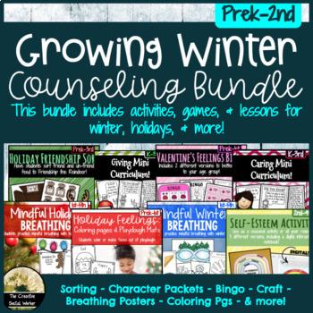 Growing Winter Counseling Bundle Prek-2nd