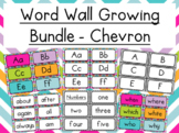 Growing Word Wall- Black & White/Colorful Chevron- Dolch Sight Words- Editable!