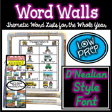 D'Nealian Growing Word Wall Bundle: D'Nealian Style Font,