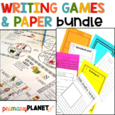 Writing Activities Bundle and Writing Papers Spin, Roll, and Write Writing Games