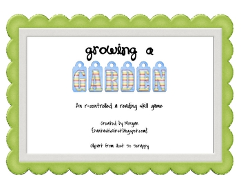 Growing a Garden - an /ar/ word game