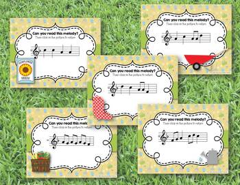 Growing a Garden of Melodies! Interactive Melodic Practice BUNDLE - 5 GAMES!