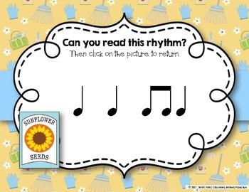Growing a Garden of Rhythms! Interactive Rhythm Practice Game - Ta and Ti-ti