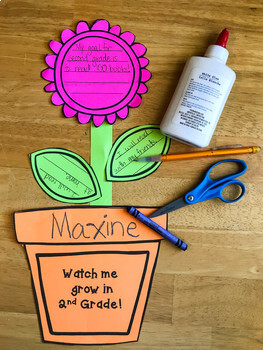 Growing a Growth Mindset: A Goal Setting Craftivity
