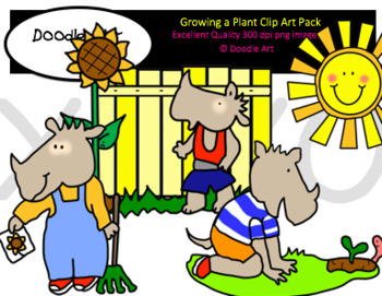 Growing a Plant Clipart Pack