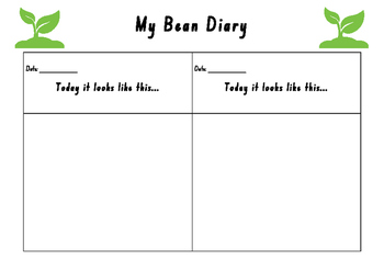 Growing a bean Diary