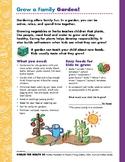 Growing a family garden