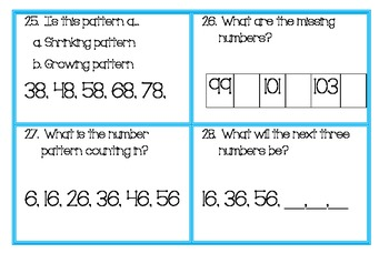 Growing and Shrinking Number Patterns and Number Sequences