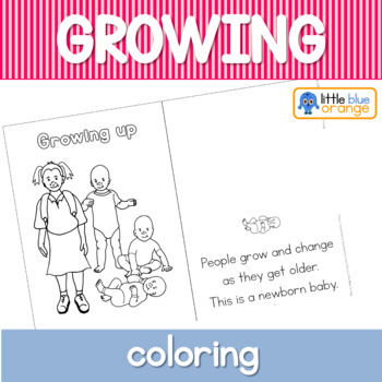 Growing and changing coloring booklet