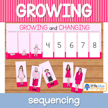 Growing and changing sequencing activity worksheet
