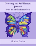 Growing my Self-Esteem journal with art and affirmations