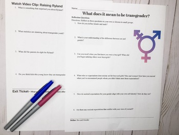 Sociology Growing up Transgender Lesson (3-4 days)