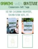 Growing with Gratitude Classroom Volunteer and Teacher App