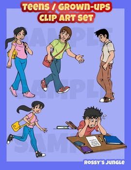 Grown ups/Teens basic clip art set