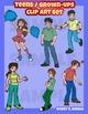 Grown ups/Teens basic clip art set
