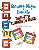 Growing Mega Bundle Turn-It's: Clothespin Task Cards
