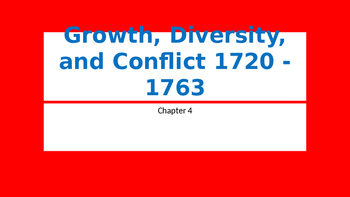 Growth, Diversity, and Conflict 1720 - 1763