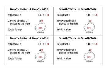 Growth Factor to Growth Rate Notecard