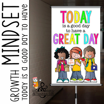 Growth MINDSET {melonheadz} - MED BANNER,  Today Is a Good Day GREAT DAY
