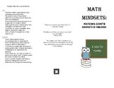 Growth Math Mindset Brochure
