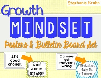 Growth Mindest Posters and Bulletin Board Set