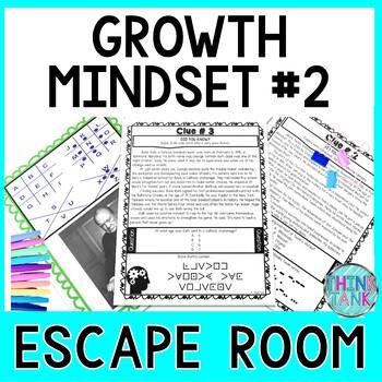 Growth Mindset # 2 ESCAPE ROOM Activity:  Positive Affirmations!