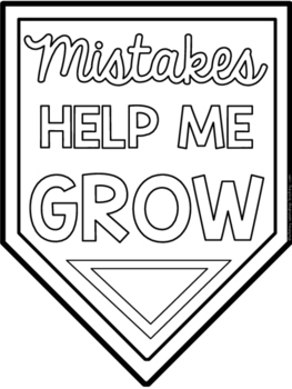 Growth Mindset 20 Student Coloring Banners By Whimsy