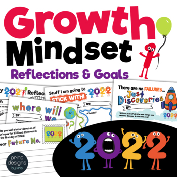 Growth Mindset 2019 Reflections and Goals Activities • Book • Banner