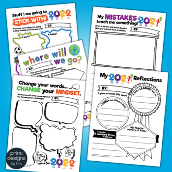 Growth Mindset 2020 Reflections and Goals Activities • Book • Banner