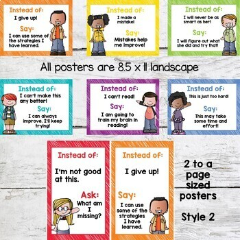 Growth Mindset Posters and Student Book