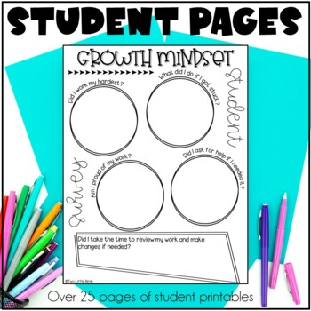 Growth Mindset: Posters, Bulletin Board, Activities, Flip Book, Quotes