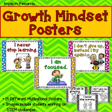 Growth Mindset Posters - Including Coloring Pages