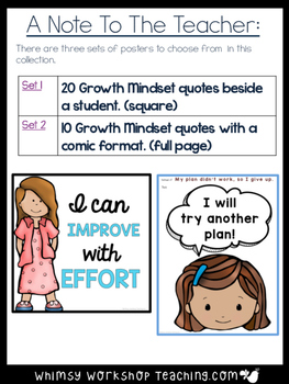 Growth Mindset 30 Posters