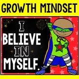 Growth Mindset (Chalkboard and Superhero Theme)