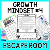 Growth Mindset # 4 ESCAPE ROOM Activity: Quotes from MODERN Athletes