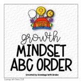Growth Mindset ABC Order Activity Printables