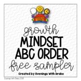 Growth Mindset ABC Order Practice Printables {Freebie}
