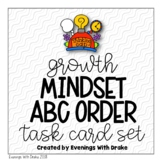 Growth Mindset ABC Order Task Card Set