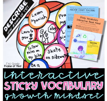 Growth Mindset & Academic Vocabulary Activities Anchor Chart
