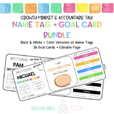 Growth Mindset & Accountable Talk Name Tags with Student G